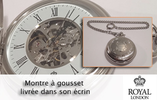 Montre a gousset Royal London couleur argent