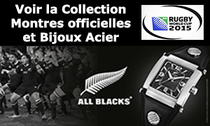 Collection Montres et Bijoux Acier All Blacks